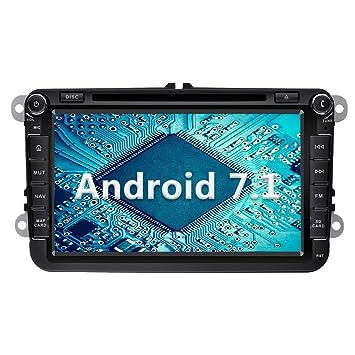 YINUO 8 Pulgadas 2 DIN Android 7.1.1 Nougat 2GB RAM Quad Core Pantalla Táctil Estéreo Reproductor De DVD GPS Navegador Multimedia Radio De Coche para ...
