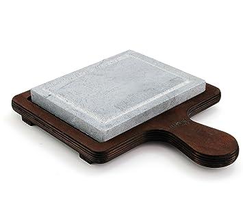 BISETTI Tradition - Piedra de Cocina, Rectangular, pequeña Base de Madera contrachapada, Acabado en Nogal, Color Blanco, Talla única: Amazon.es: Hogar