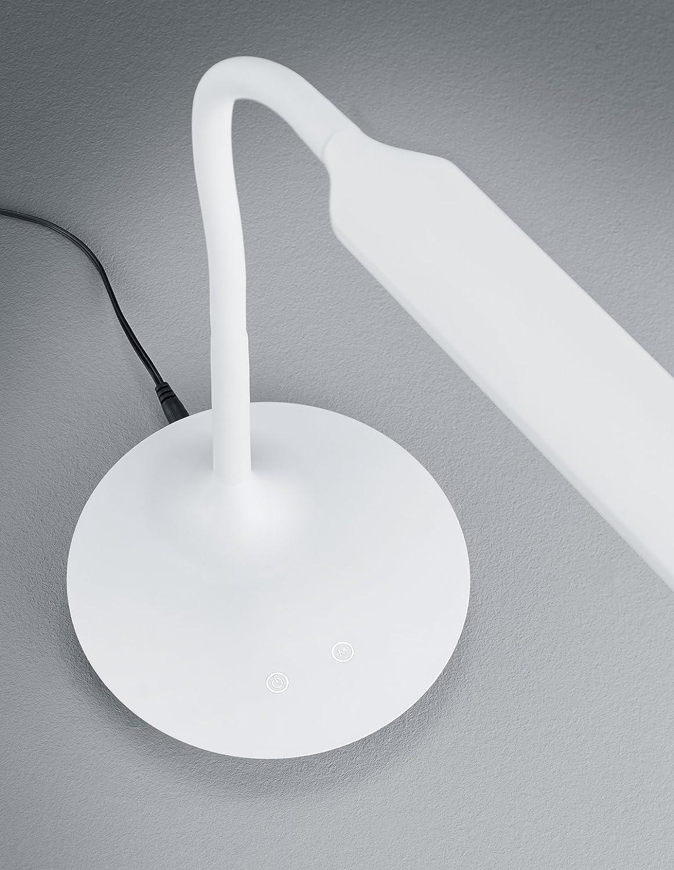 5 W Blanc Integriert Trio Leuchten 527090131 Polo Lampe de Table Plastique 40 x 16,4 x 41 cm