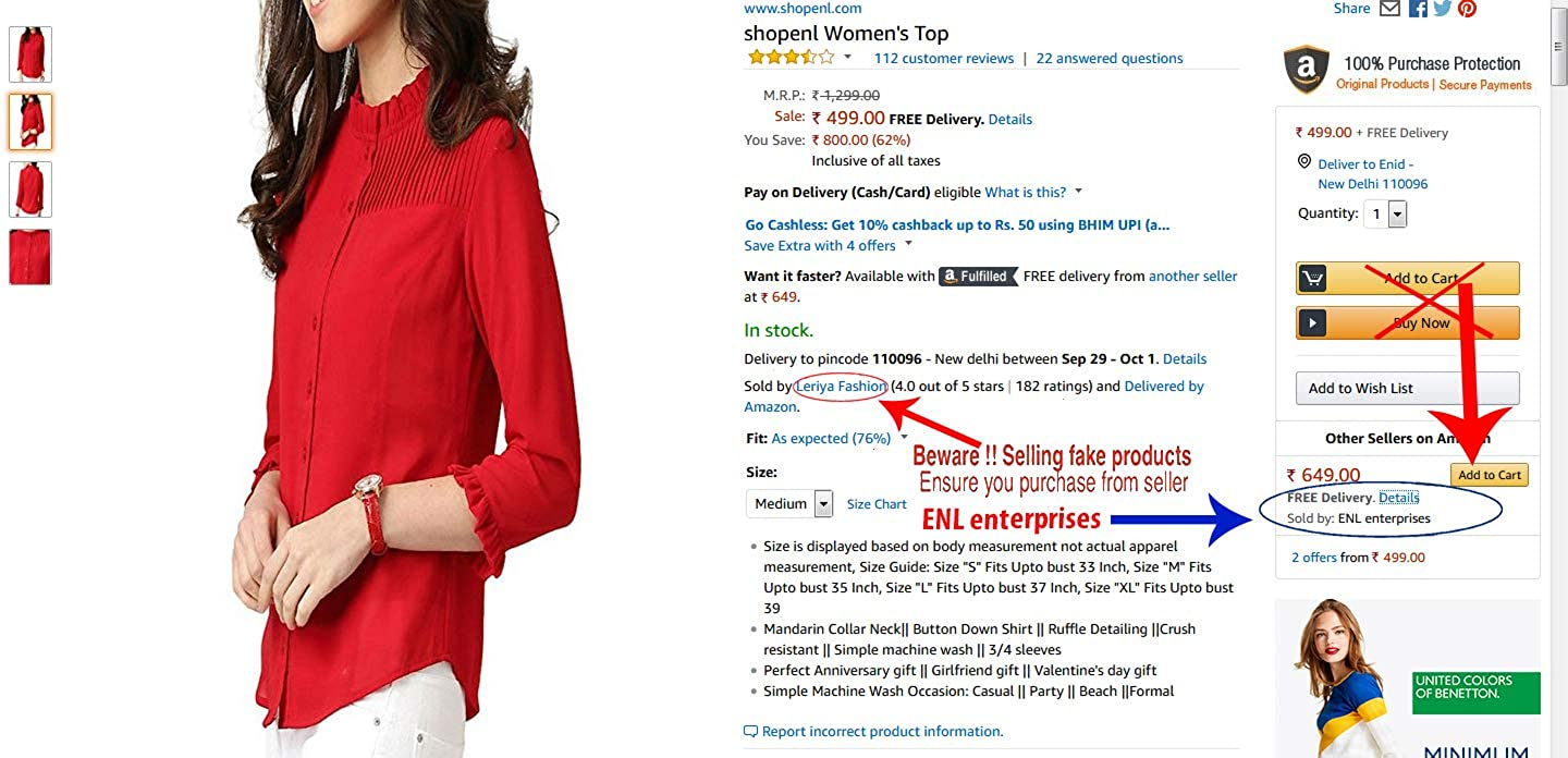 4ffe7392e4fdfb ENL Red pleated Formal Office Top Shirt  Amazon.in  Clothing   Accessories