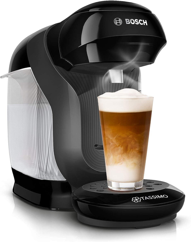 Bosch TAS1102 Tassimo Style - Cafetera de cápsulas (más de 70 bebidas, totalmente automática, apta para todas las tazas, tamaño compacto, 1400 W), color negro: Amazon.es: Hogar