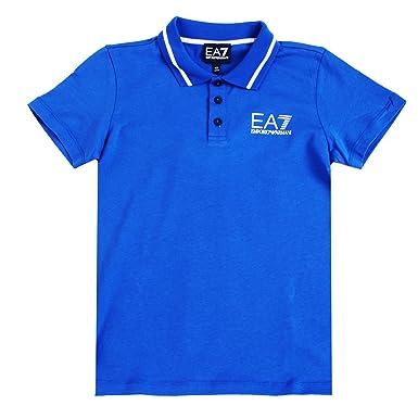 544722c74987 EA7 Armani Boys Blue Polo Shirt  Amazon.co.uk  Clothing