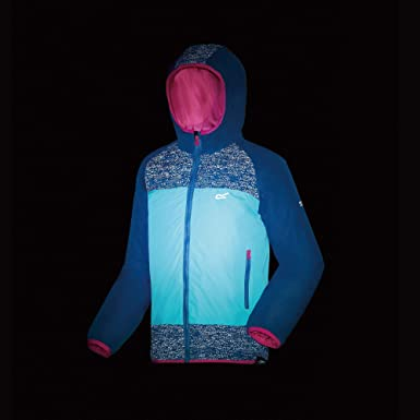 Beb/é-Ni/ños Regatta Volcanics II Waterproof and Breathable Lightweight Insulated Reflective Hooded Chaqueta