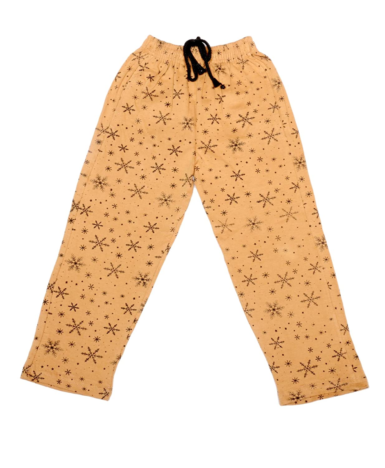 Pack of 2 IndiWeaves Girls Premium Cotton Full Length Lower//Track Pants//Pyjamas with 2 Open Pockets