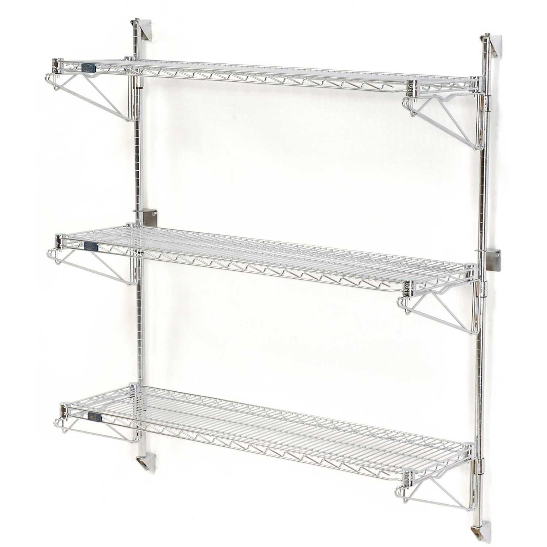Nexel Wall Mount Wire 3-Shelf Starter Unit, 36''W x 24''D x 54''H by Nexel
