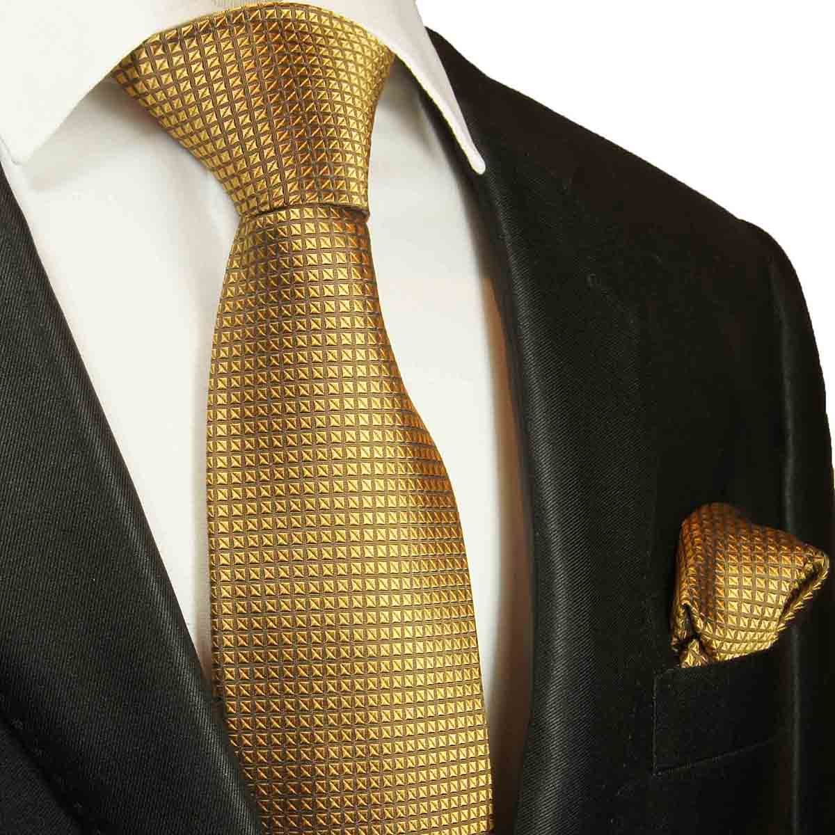 Silk Mens Tie and Pocket Square by Paul Malone