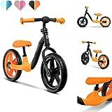 Lionelo LOE ORANGE Alex lekcykel barncykel upp till 30 kg sadel och styre justerbar 12 tum Eva skumhjul robust…