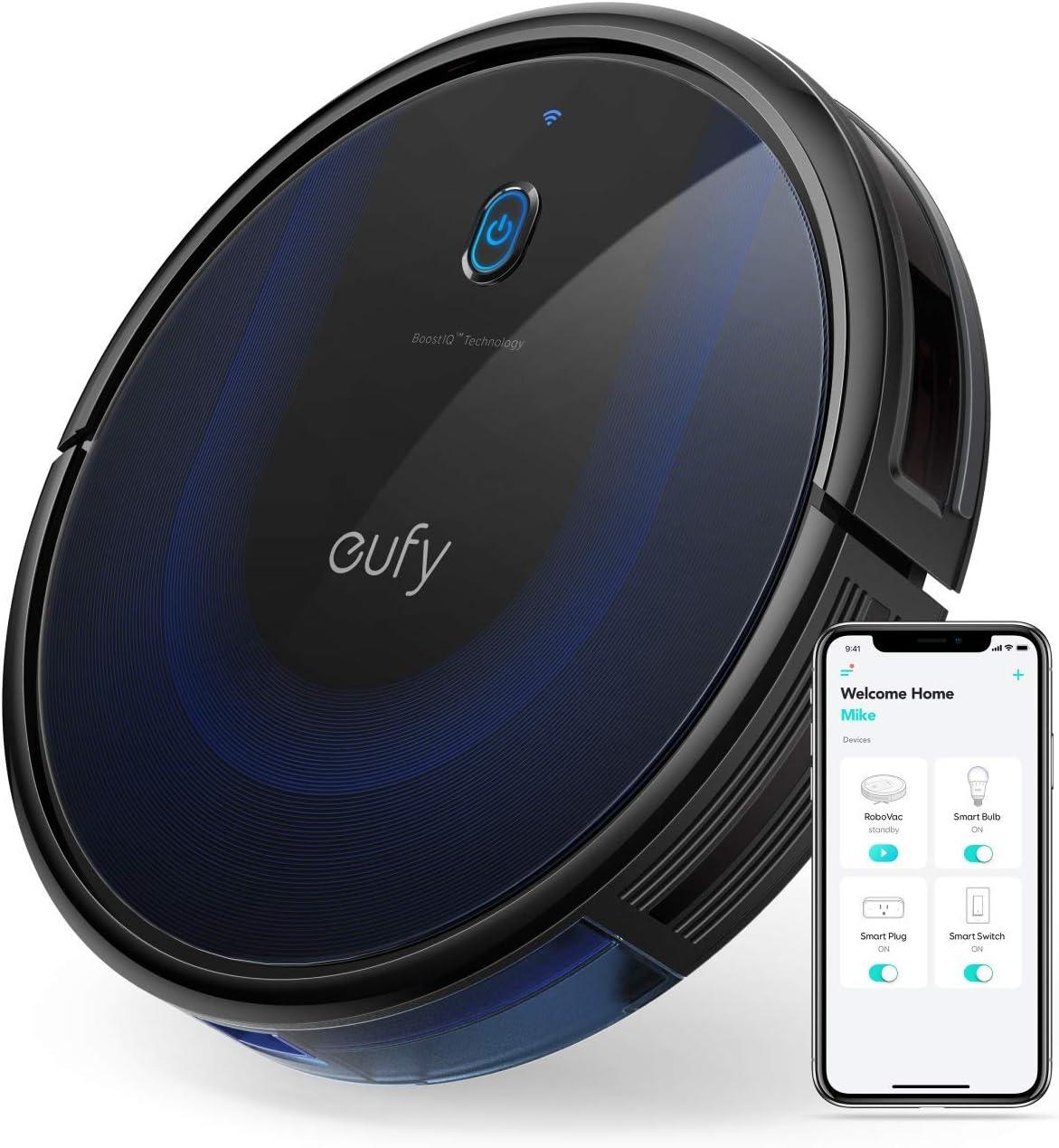 eufy [BoostIQ] RoboVac 15C MAX, Wi-Fi Connected Robot Vacuum Cleaner, Super-Thin, 2000Pa Suction, Quiet, Self-Charging Robotic Vacuum Cleaner, Cleans Hard Floors to Medium-Pile Carpets