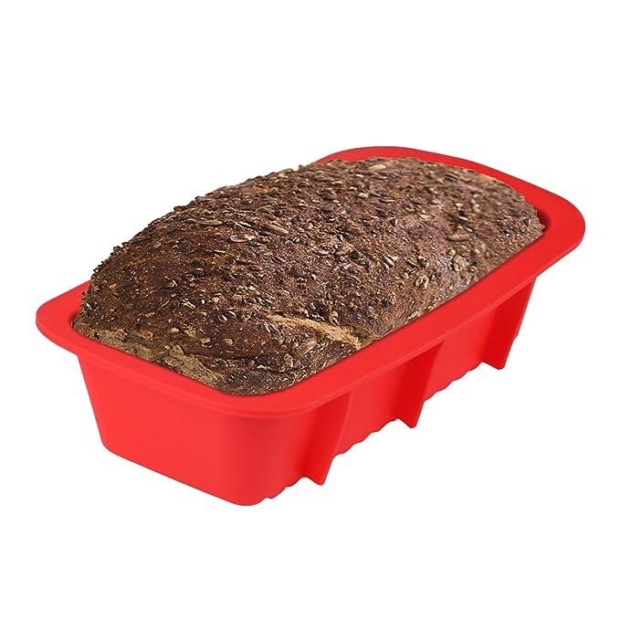 Belmalia Bandeja de Pan Silicona, Forma Panificación, Molde para Hornear Torta, Molde de Repostería Rojo: Amazon.es: Hogar