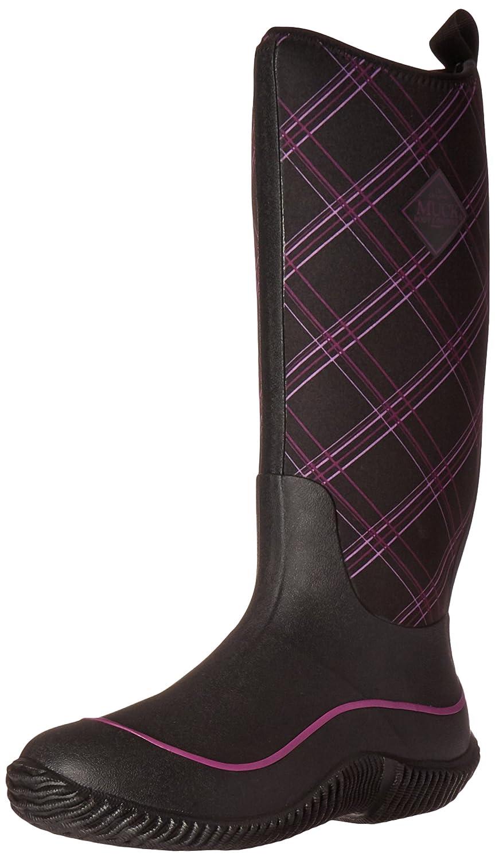 MuckBoots Women's Hale Plaid Boot B01IOANQP8 6 B(M) US|Black/Purple Plaid