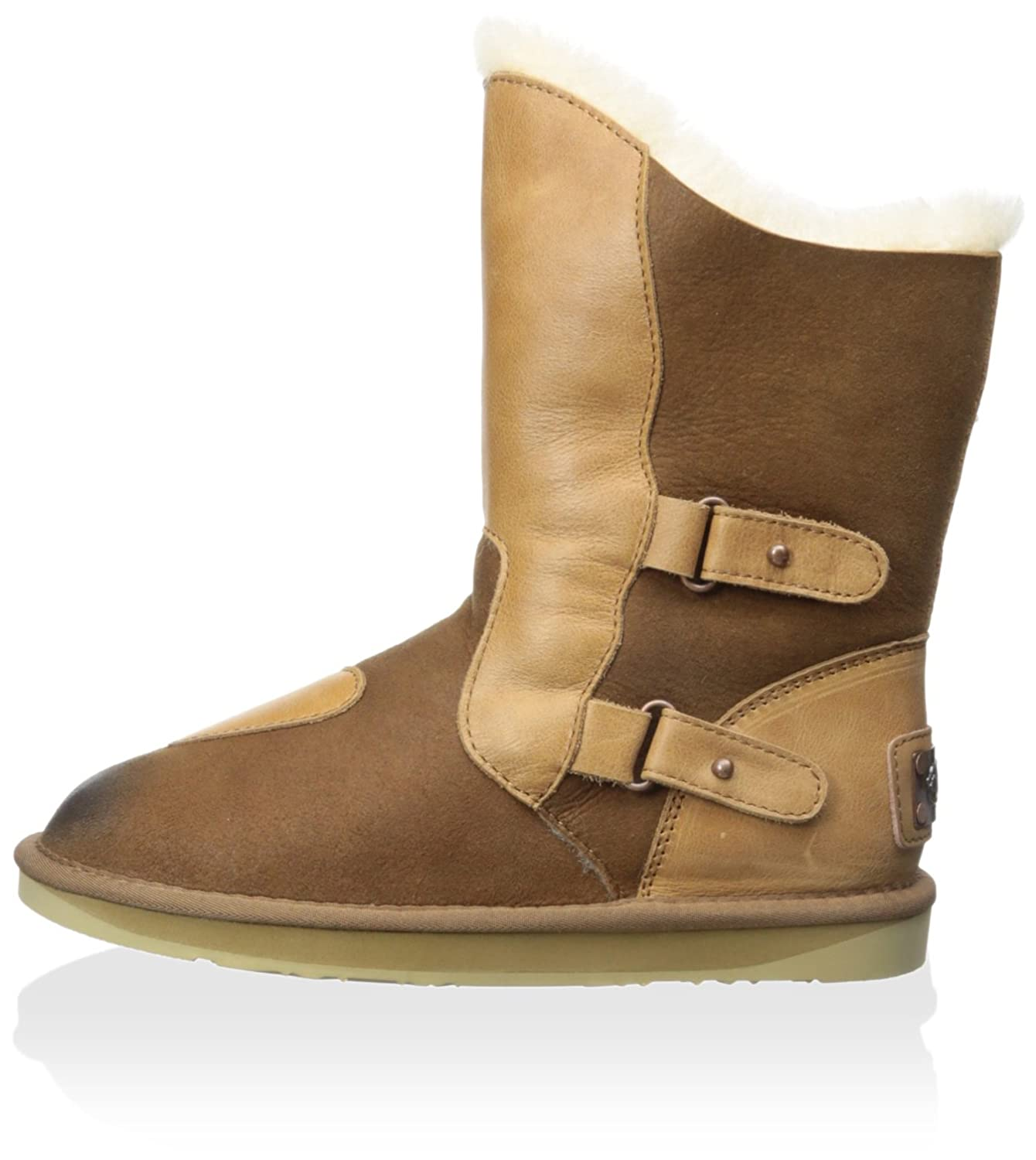 Women's Niobe Short Shearling Boot With Buckles
