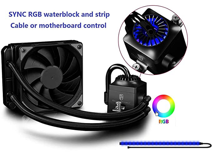 DEEPCOOL GAMER STORM CAPTAIN EX SERIES AIO LIQUID COOLER (120mm, RGB) Water Cooling Systems at amazon