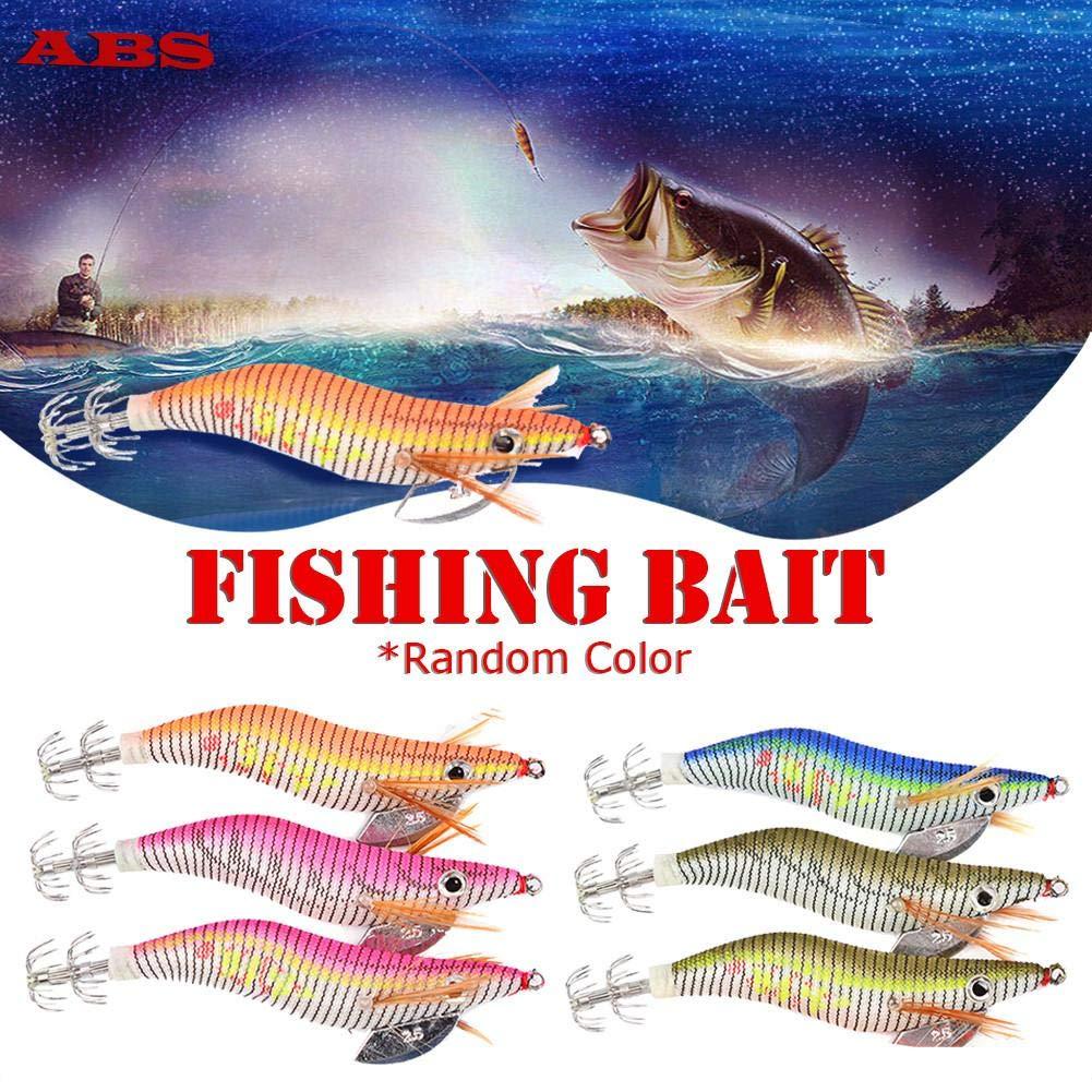 Señuelos de señuelo de Pesca, señuelos Luminosos para Cebo de camarón y Calamar, Anzuelo biónico Falso, Forma DE 2,5#, Forma de Pulpo: Amazon.es: Hogar