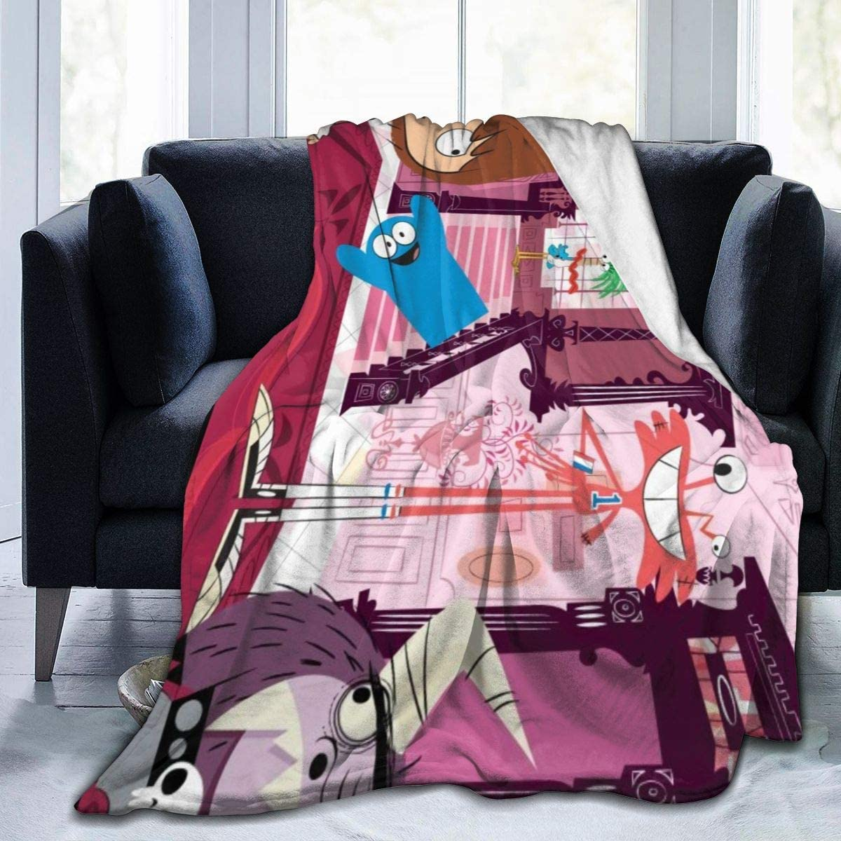 Foster's Home for Imaginary Friends Super Soft Sheep Blanket, Suitable for Adults Or Children's Sofa Or Bed