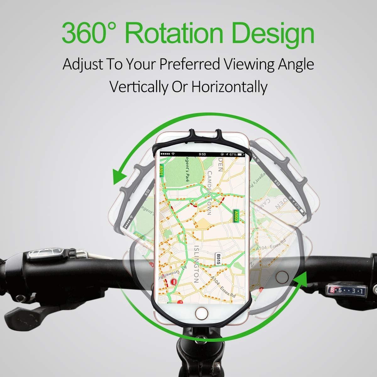Moto estuche duro iPhone 7 6s 6 soporte manillar con liberación rápida 360 ° girable