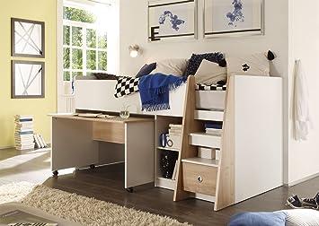 Kinderzimmer Mit Etagenbett : Autobett kinderzimmer und babyzimmer hochbett etagenbett
