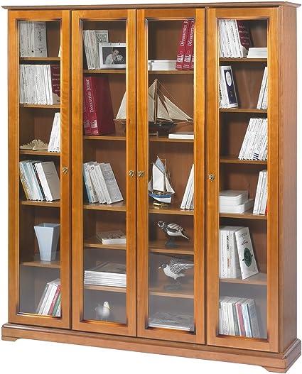 Beaux Meubles Pas Chers Bibliotheques Panneaux De Particules De Bois Plaque Merisier 161 Amazon Fr Cuisine Maison