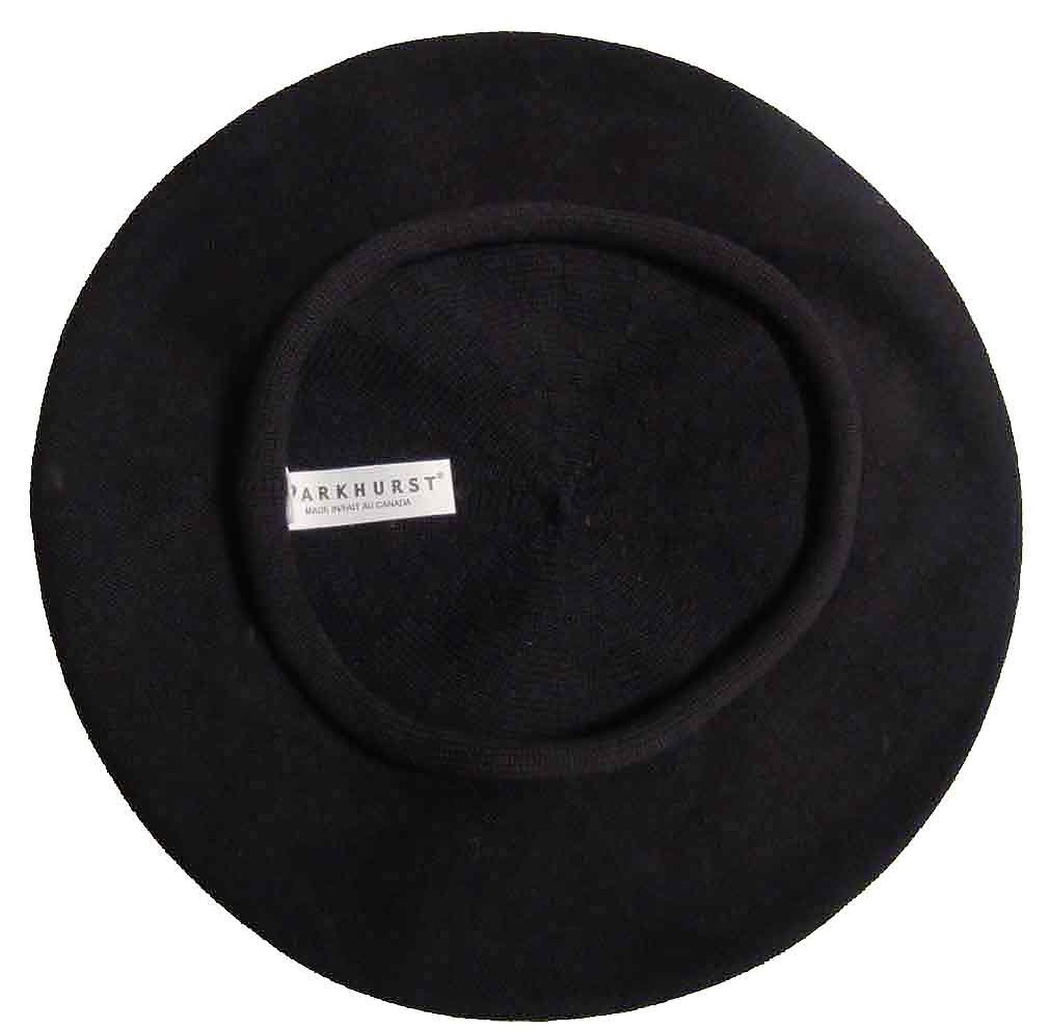 Classic French ''Artist's'' Beret (Adult)- 100% Cotton - Black - 11'' Dia.