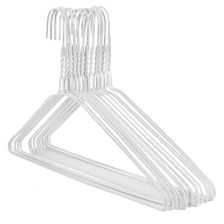 20 XXL Drahtkleiderbügel weiß, Breite 46 cm breit Hangerworld ...