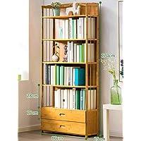 Bamboo Wooden Bookcase Bookshelf Multi-Tiers Storage Rack Shelf Office Furniture
