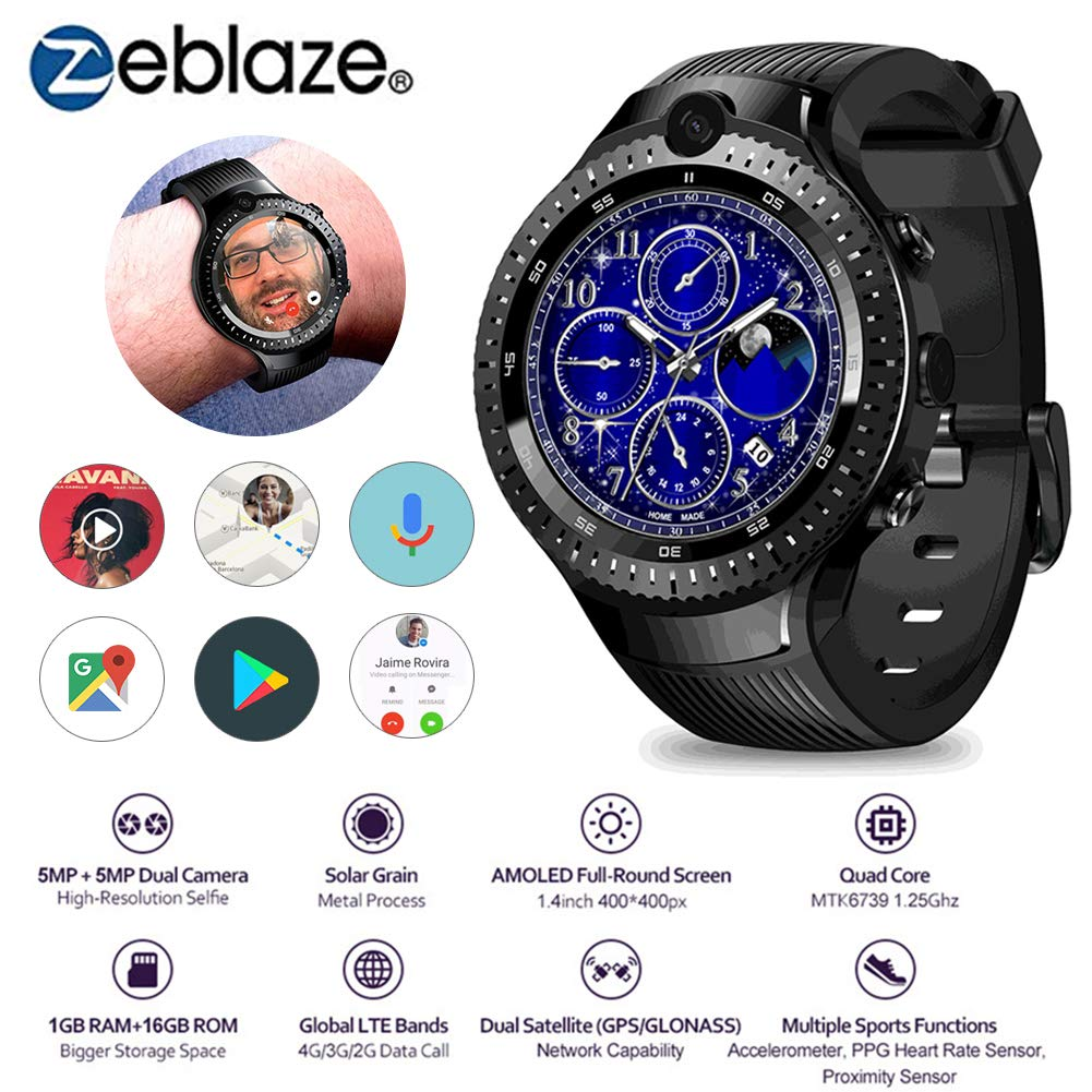 Zeblaze THOR 4 Dual Smart Watch 4G Dual 5.0MP Cámara Quad ...