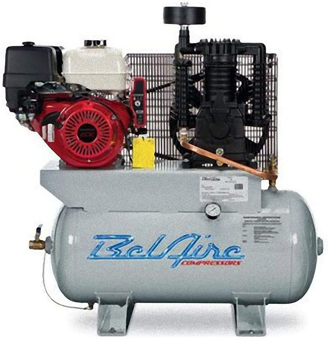 BelAire 3G3HHL 13 HP 30 Gallon Gas Driven Honda Engine Horizontal Compressor