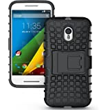 Motorola Moto G 3rd Gen Case Cover Accessories - Tough Rugged Dual Layer Protective Case with Kickstand For Motorola Moto G3 (3rd Generation, 2015) - Black
