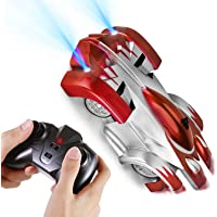 COOLWAS Rc Cars for Kids, Remote Control Car Toys Wall Climbing Dual Mode 360°Rotating Stunt Rechargeable High Speed Vehicle with LED Lights Gift for Boys Girls Age of 3,4,5,6,7,8-16 Year Old