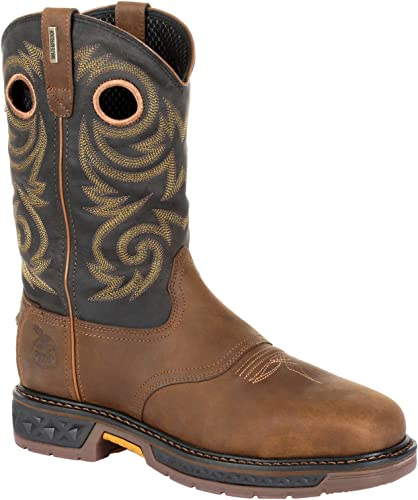 Georgia Boot Carbo-Tec LT Alloy Toe Waterproof Pull-on Boot Brown