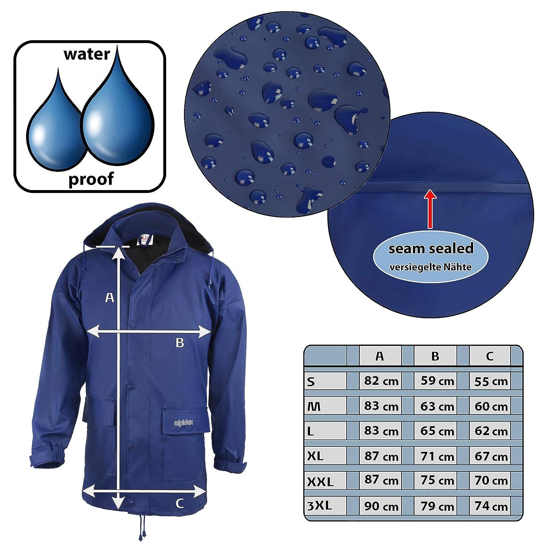 Talla S M L XL XXL 3XL Impermeable Cortavientos Ligera Transpirable con Capucha ALPIDEX Chaqueta de Lluvia para Mujer y Hombre