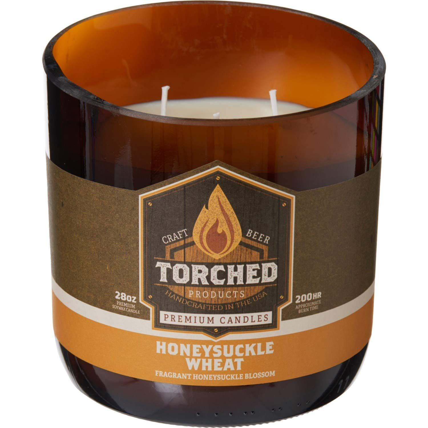 Growler Torched Honeysuckle Wheat Growler Candle - 3-Wick, 28 oz.