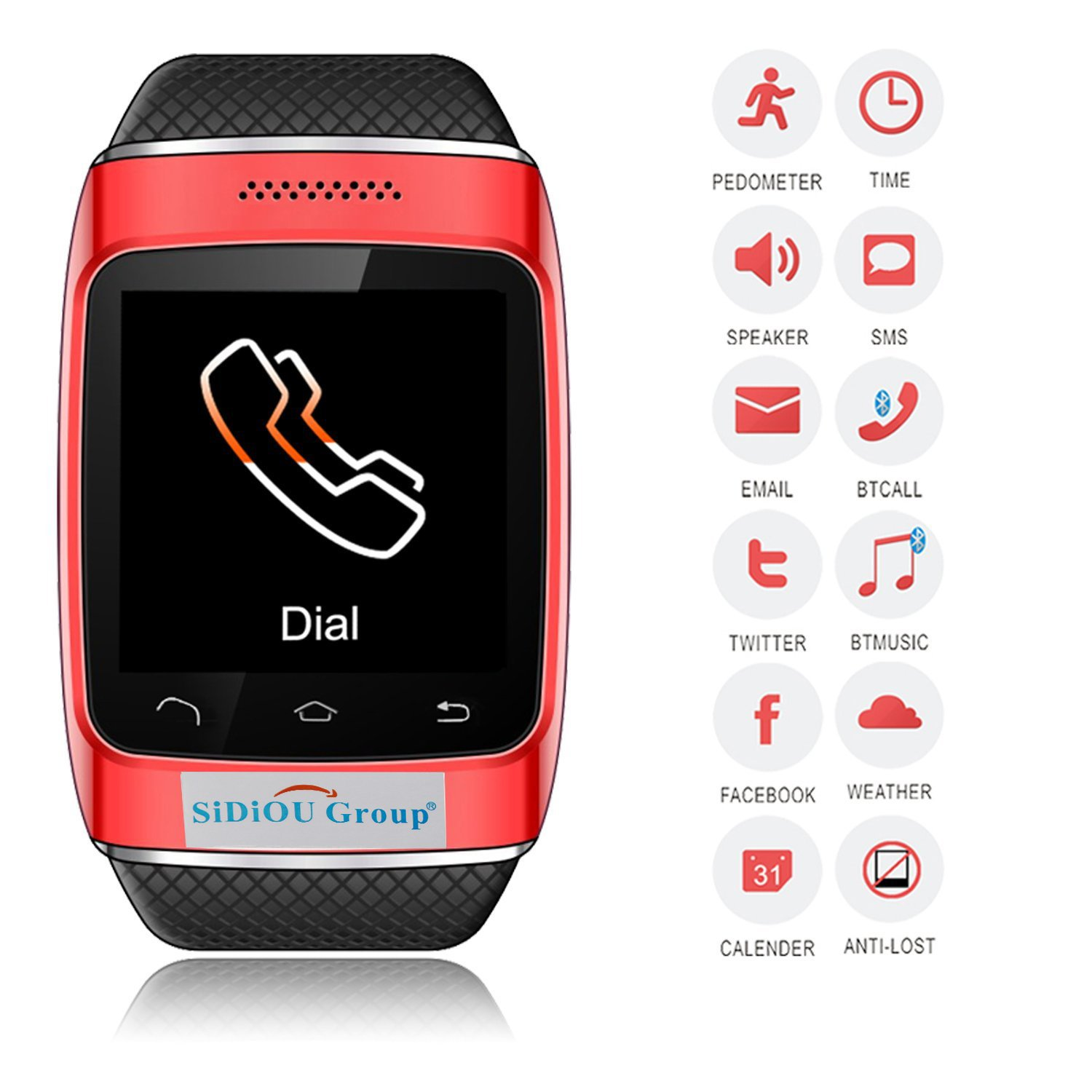 Amazon.com: Fordex Group S12 Smart Bluetooth Watch 1.54 Inch ...