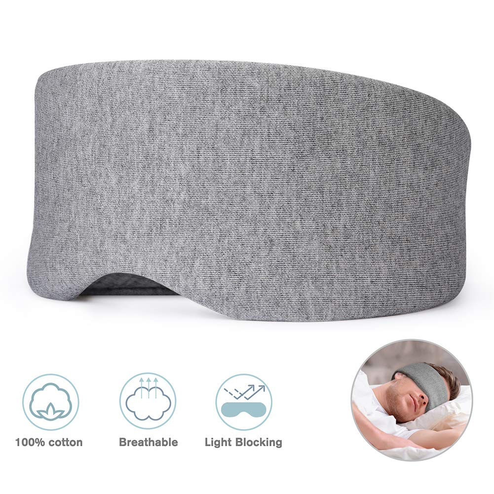 Cotton Sleep Mask, Bosiwee Eye mask for Sleeping Light Blocking, Soft and Comfortable Night Eyeshade for Men Women, Adjustable Breathable Sleeping Mask, Handmade by Bosiwee