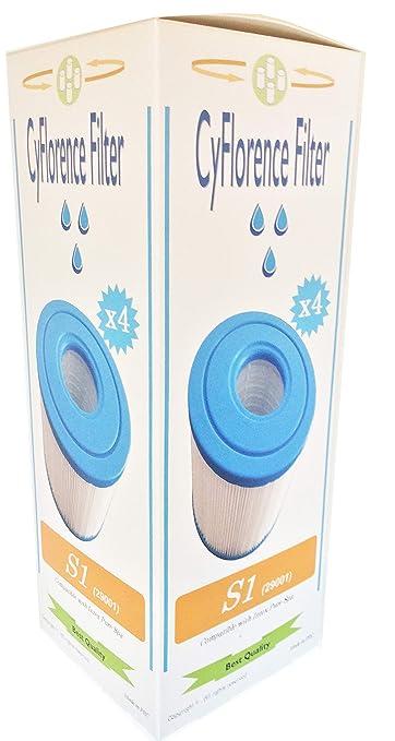 Juego de 4 filtros de SPA hinchables Intex tipo S1, 4 cartuchos de ...