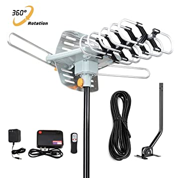 HDTV antenna-skytv Amplified antena de TV digital 150 millas largo alcance ático HD antena