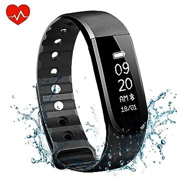OMORC Bracelet dactivité Cardiofréquencemètre Bracelet Connecté Sport Avez Suivi de Fréquence Cardiaque Smart Band