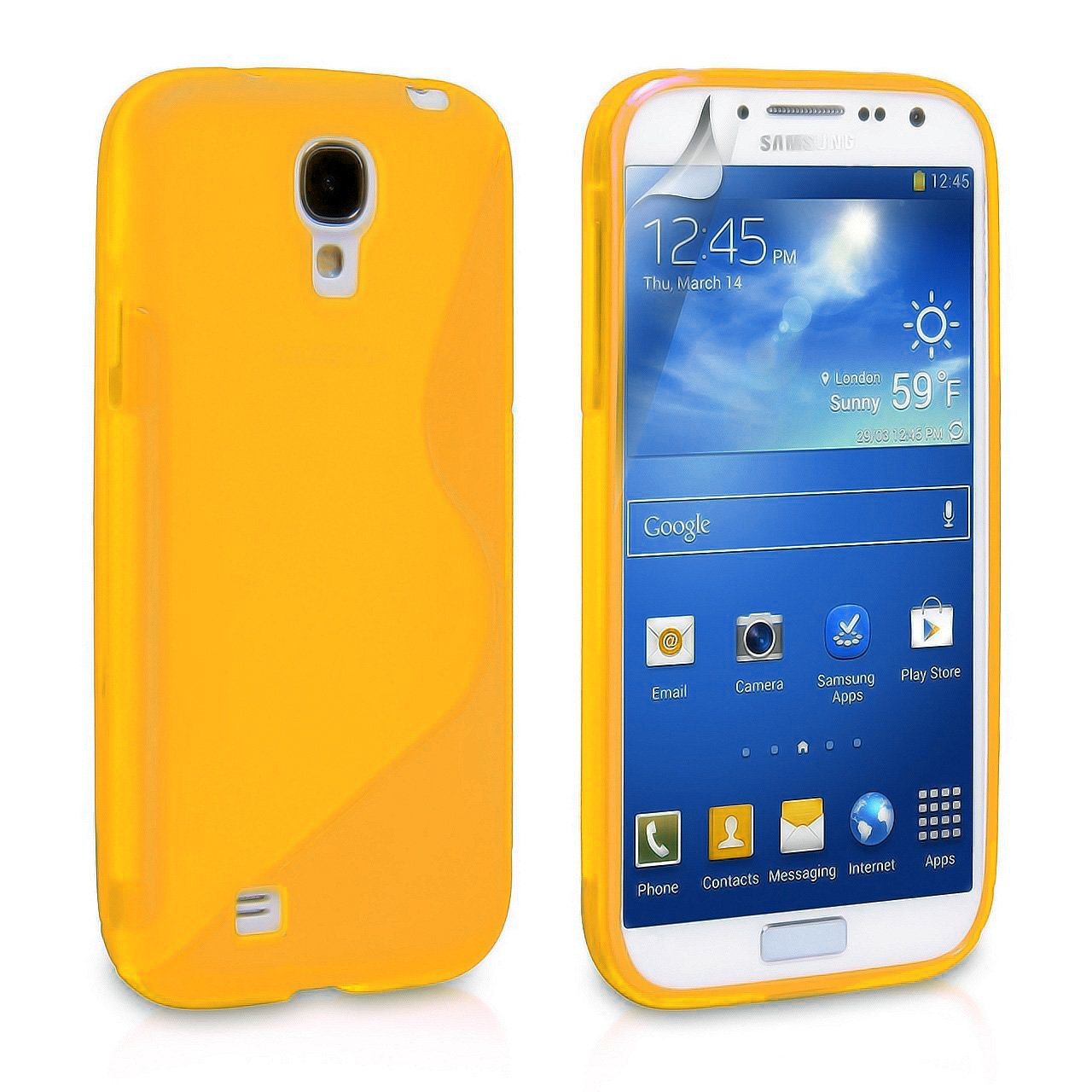 Phone Cases For Samsung Galaxy S4, Samsung Galaxy S4 Case [Orange] Rugged Drop Impact Resistant Skin IV i9500 Tough Strong Protective Soft Jelly Shell Cover ...