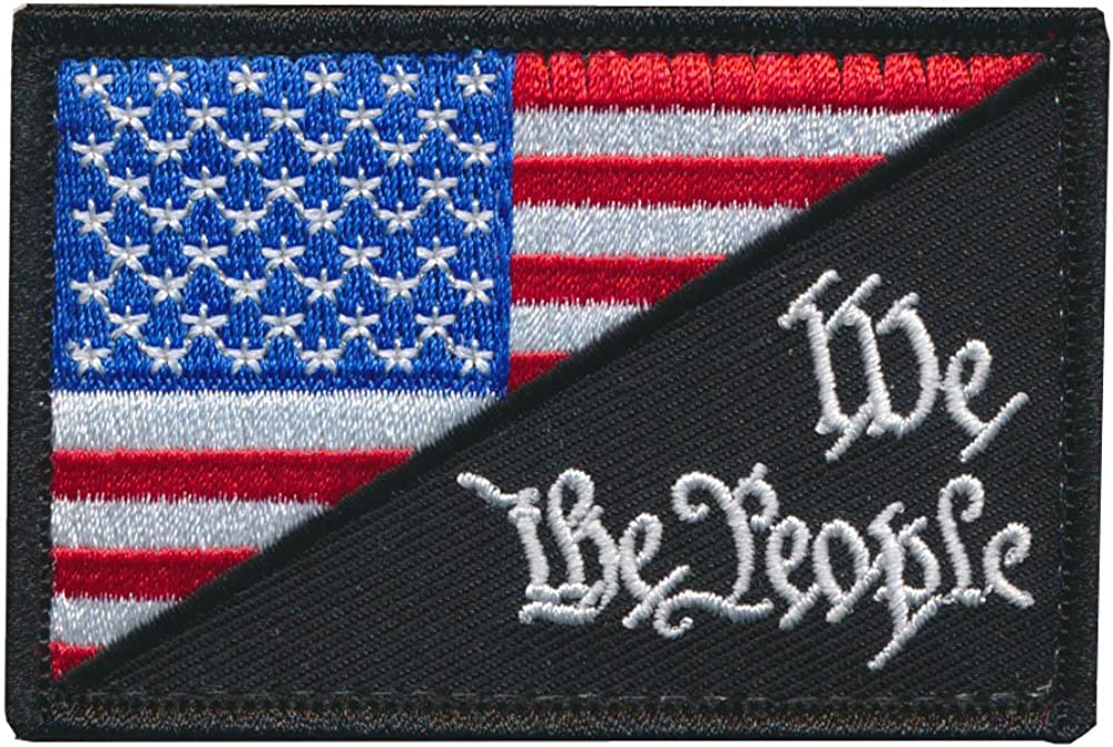 Patch Squad Mens USA Flag We The People Tactical Morale Patch