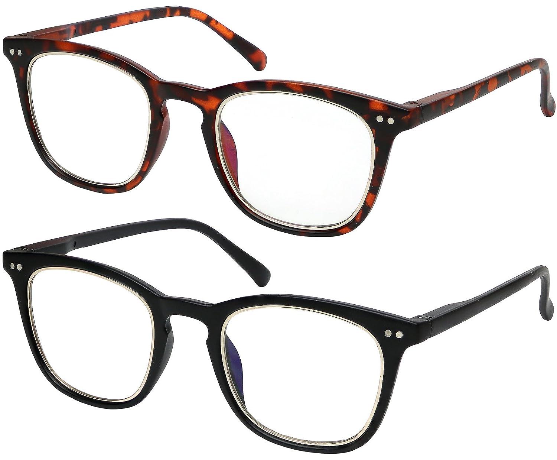Anti GlareComputerReading glasses Blue Light Blocking Reduce Eyestrain forComputer and Screens for Men and Women