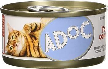 ADOC Naturale Tonnetto con Spigola per gatti adulti, confezione da 24 pezzi