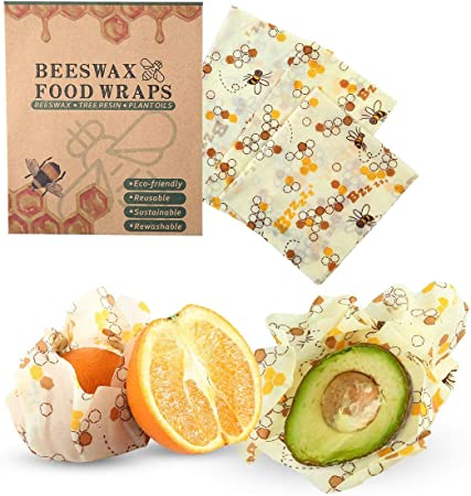 Emballages demballage De Cire Dabeilles pour Le Sandwich Au Pain Emballage R/éutilisable /à La Cire dabeille Paquet De 3 Emballages Bio /à La Cire Dabeilles Bio Beeswax Wrap