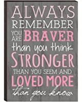 Always Remember You Are Braver Than You Think 4x6 Wall Plaque