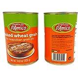 Fratelli D'Amico Cooked Wheat Grain (Grano Cotto) - 2 Cans - For Easter Wheat Pie (Pastiera Napoletana di Grano) Italian Import