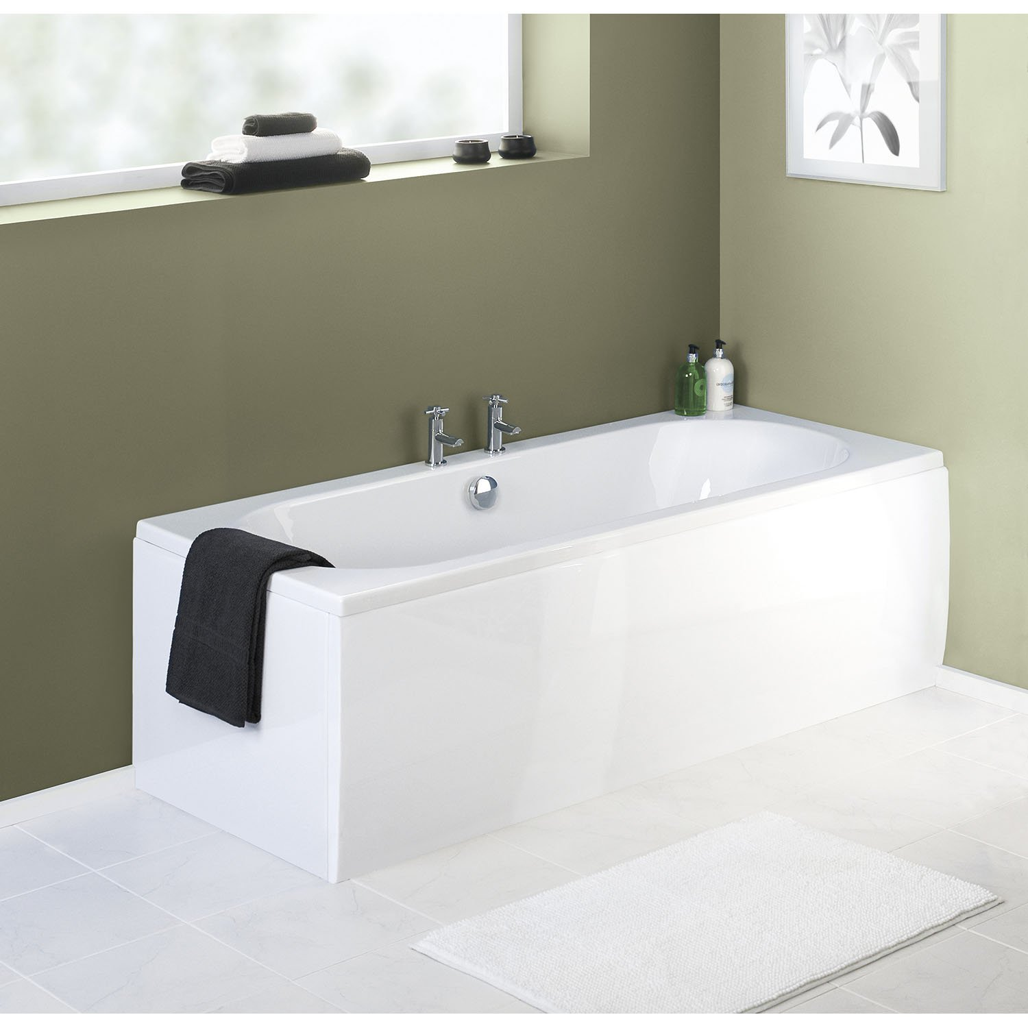 Premier PAN150 Acrylic 1700 Front Bath Panel, White