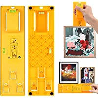 Picture Hanging Kit, H HOME-MART Picture Frame Hanger Level Tool Ruler for Measuring and Marking Position, Hooks, Nails…