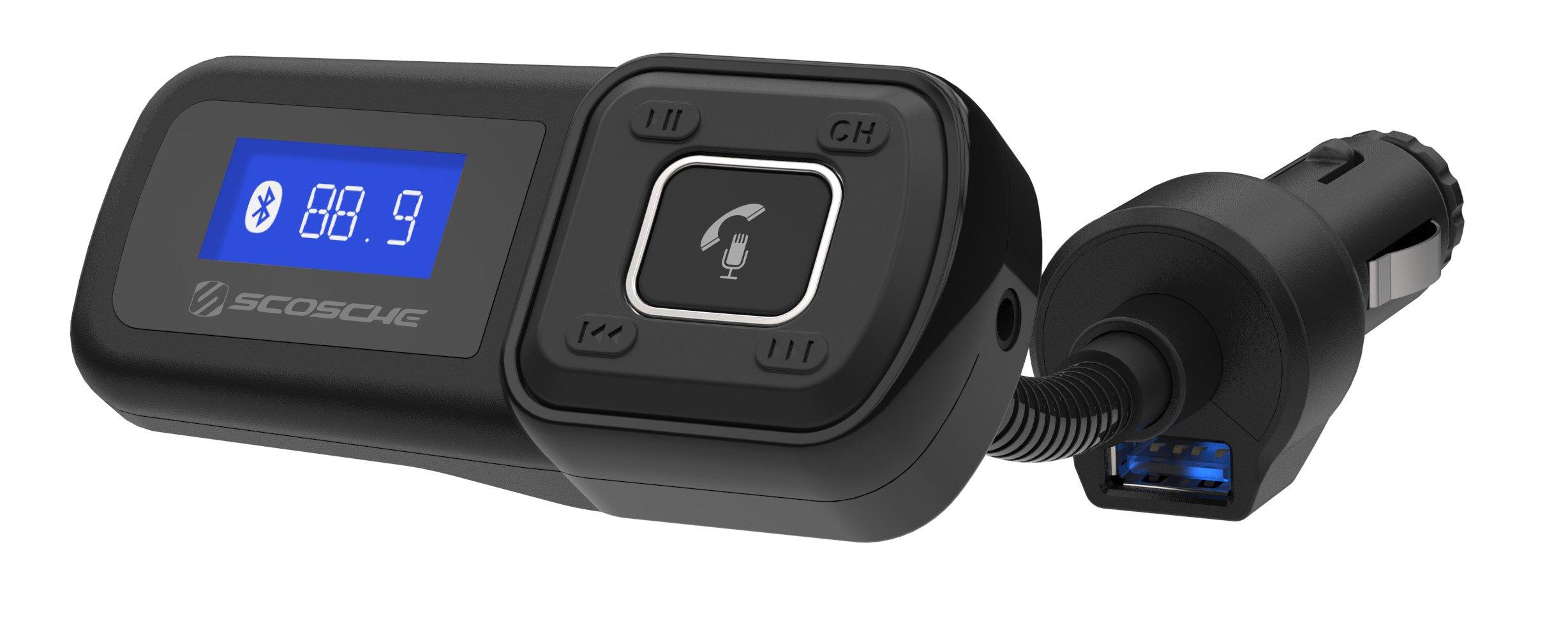 SCOSCHE BTFM2A BTFREQ Universal Bluetooth Hands-Free Car Kit with Digital FM Transmitter and 10-Watt USB Car Charger