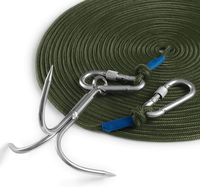 100ft rope new Grapnel grappling hook  Kayak RIB SIB Dinghy PWC magnet fishing