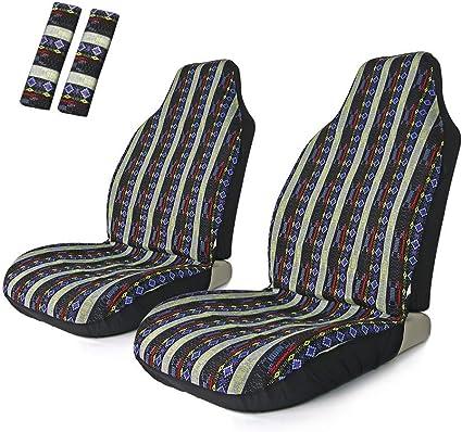 dise/ño de rayas 4 unidades multicolor SUV y cami/ón Copap Baja Funda universal para asiento delantero de coche