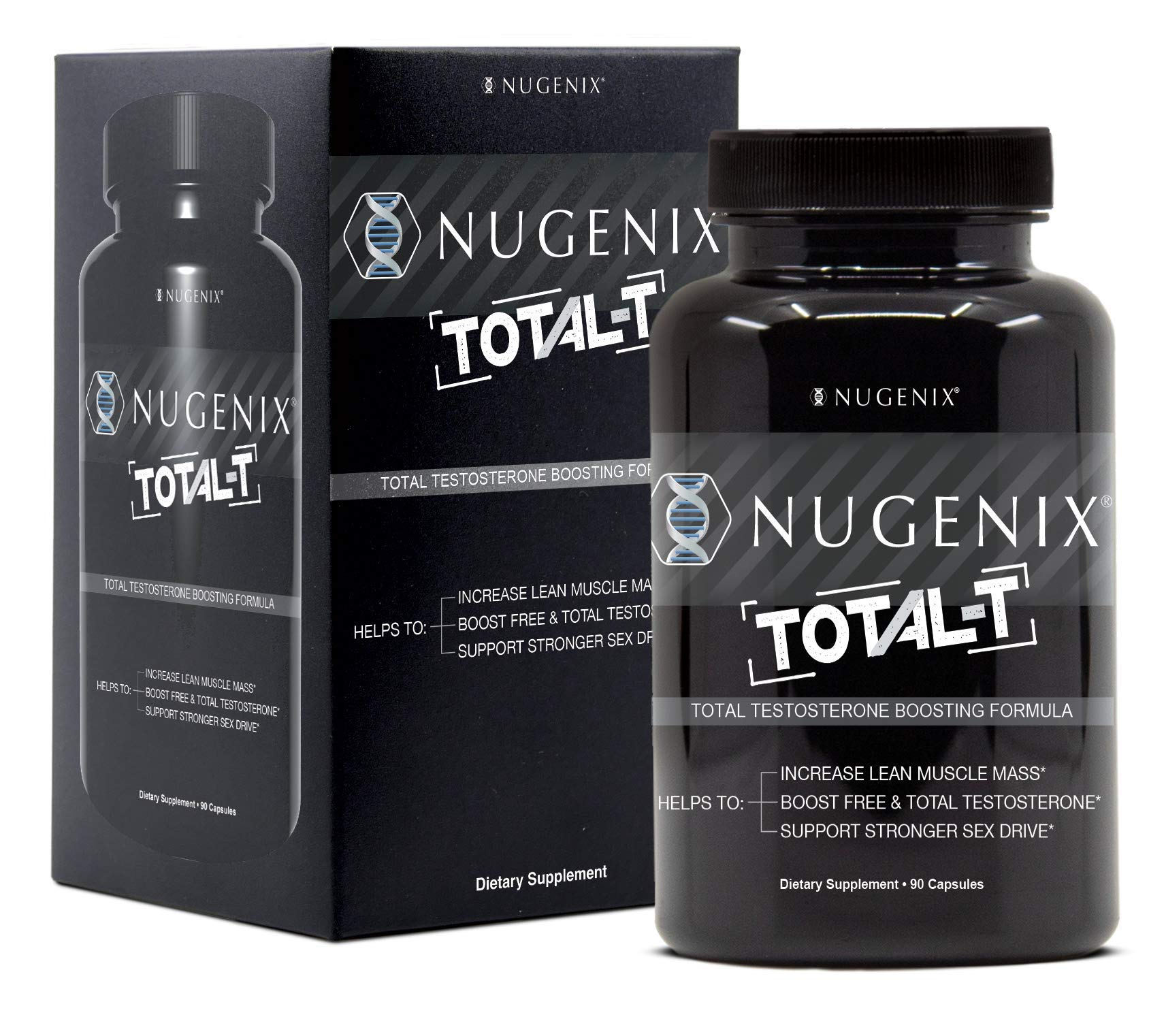 Nugenix Total-T: Men's Total Testosterone Boosting Formula. All New, High Potency, High Bioavailibility Testosterone Boosting Ingredients. Helps with Energy, Muscle, Libido, Stamina, and Drive by Nugenix (Image #1)