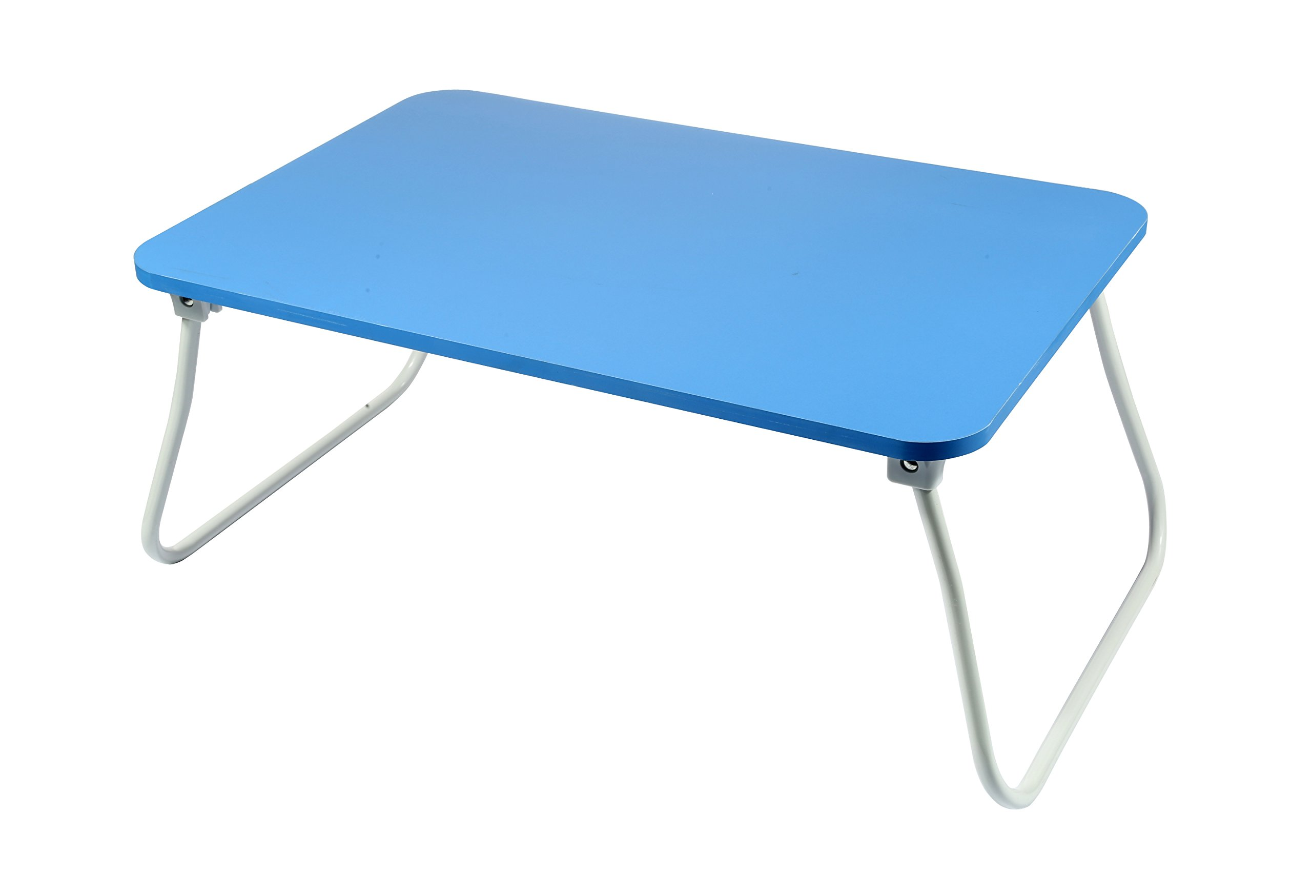 Homebi Lap Desk Tray Table Laptop Stand Portable Bed Desk Breakfast Tray for Bed Couch and Sofa with MDF Top Board and Foldable Metal Legs (11.20''H, Blue)